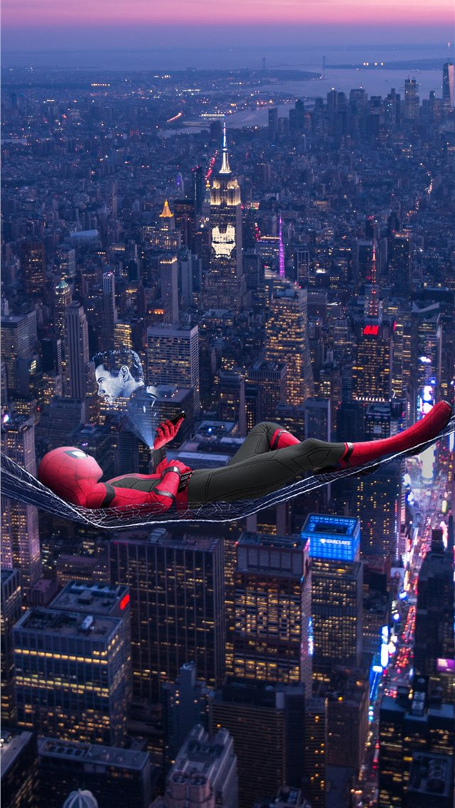 2019 spiderman far from home poster iPhone wallpaper