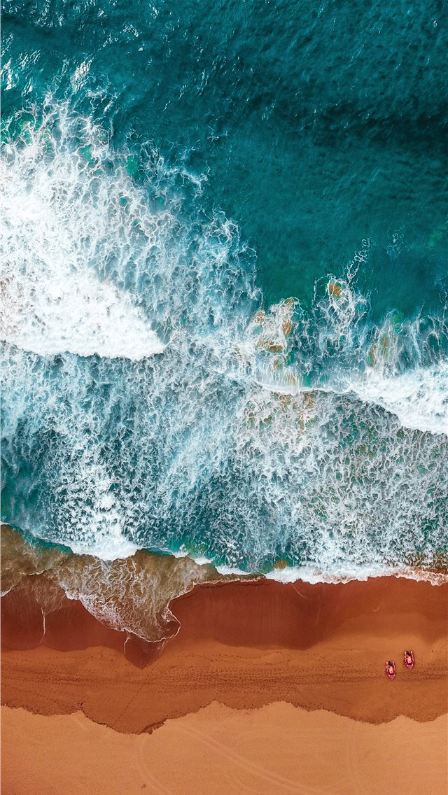 aerial photography of beach iPhone wallpaper