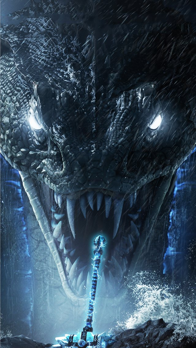 for honor wrath of the jormungandr 5k iPhone wallpaper