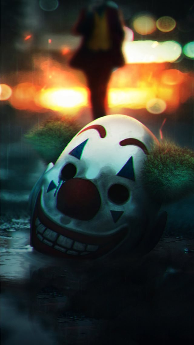 the joker mask off iPhone wallpaper