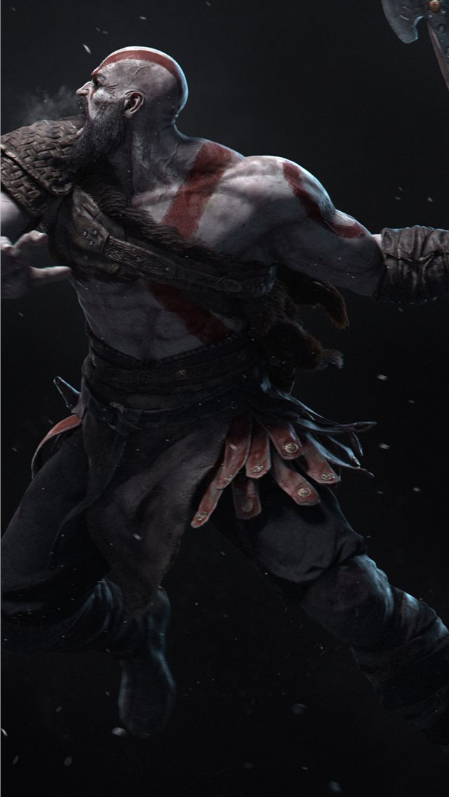 kratos 4k new art iPhone wallpaper