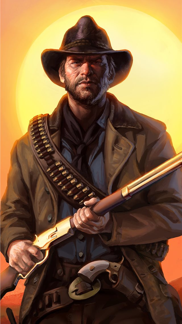 red dead redemption art iPhone wallpaper