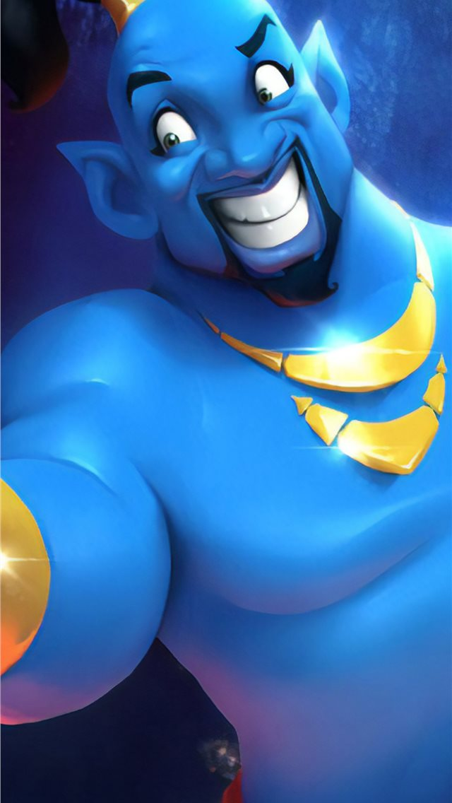 will smith as genie cartoon art iPhone wallpaper