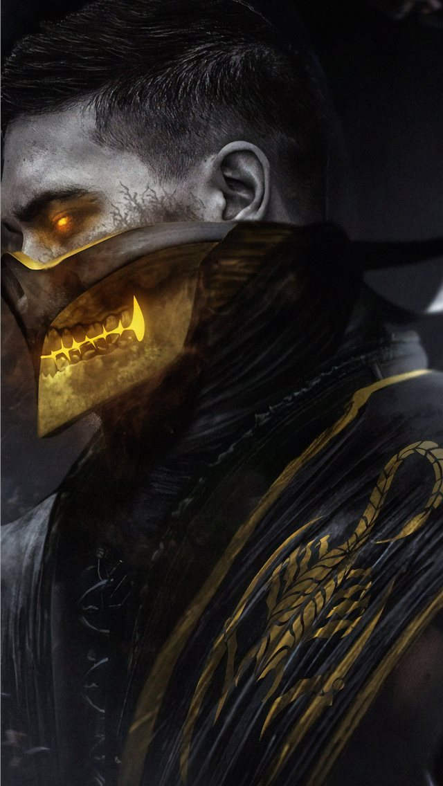 scorpion mortal kombat art iPhone wallpaper