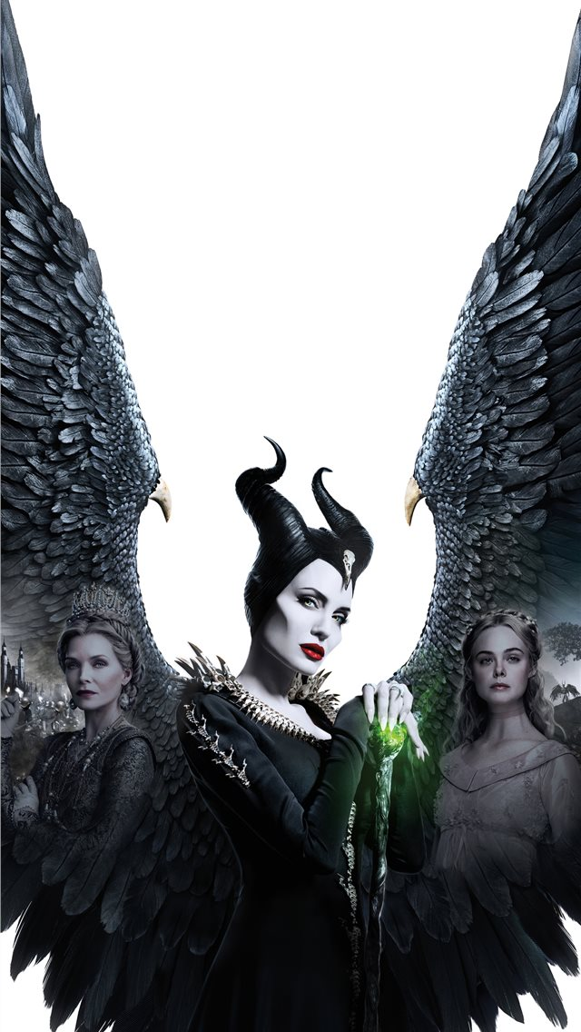 maleficent mistress of evil 5k 2019 poster iPhone wallpaper