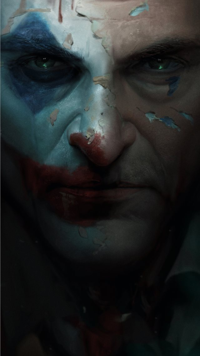 joker movie closeup art iPhone wallpaper
