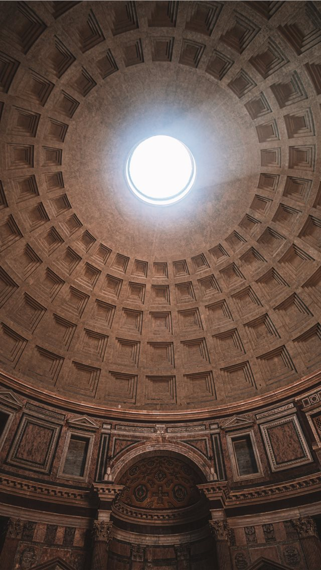 inside Pantheon temple in Rome Italy iPhone wallpaper
