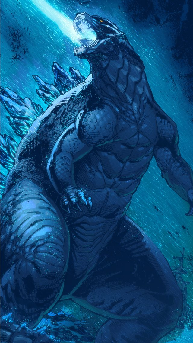 artwork godzilla king of the monsters iPhone wallpaper