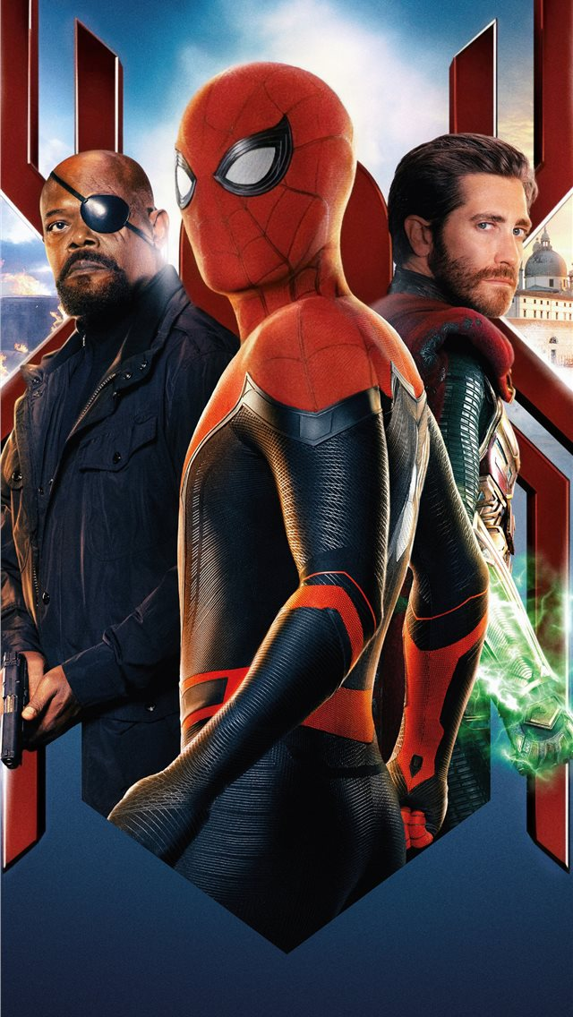 Spiderman Far From Home 2019 Movie Iphone Wallpapers Free