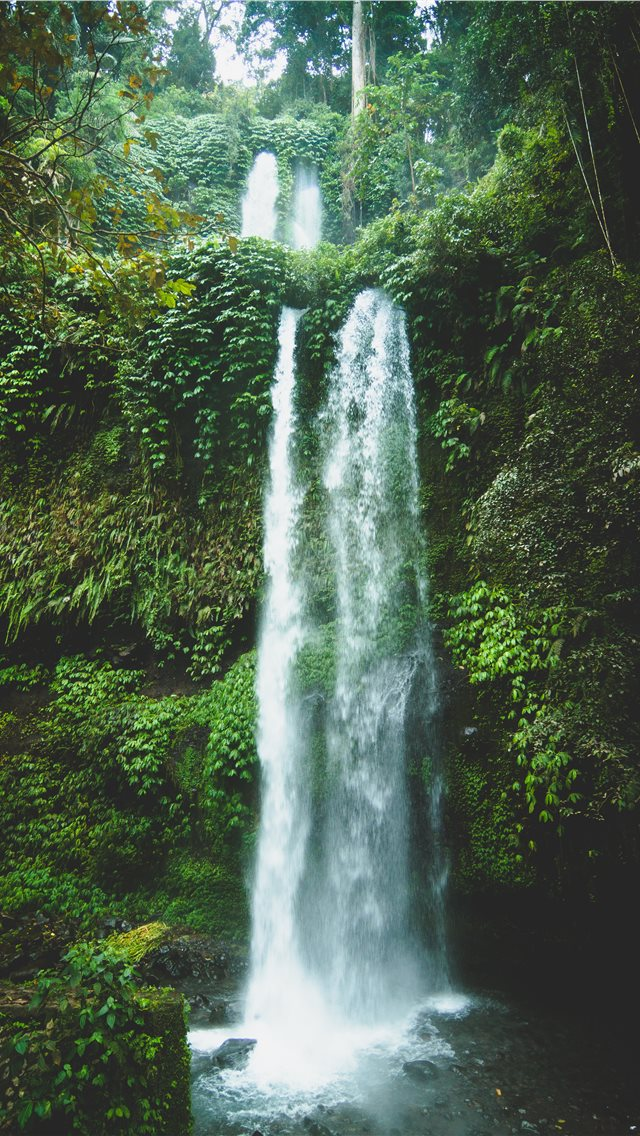 waterfalls at daytime iPhone wallpaper