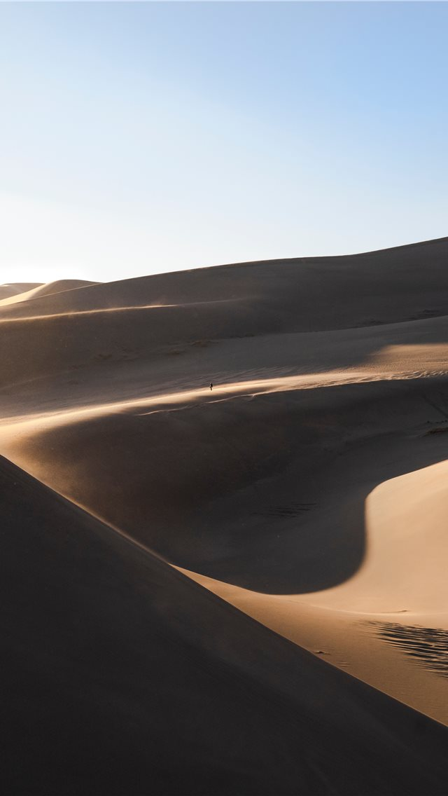 landscsape photography of desert field iPhone wallpaper