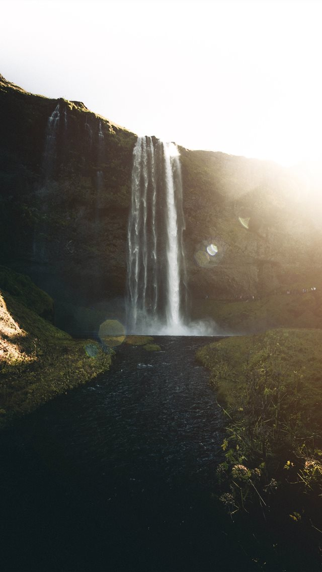 waterfalls during daytime iPhone wallpaper