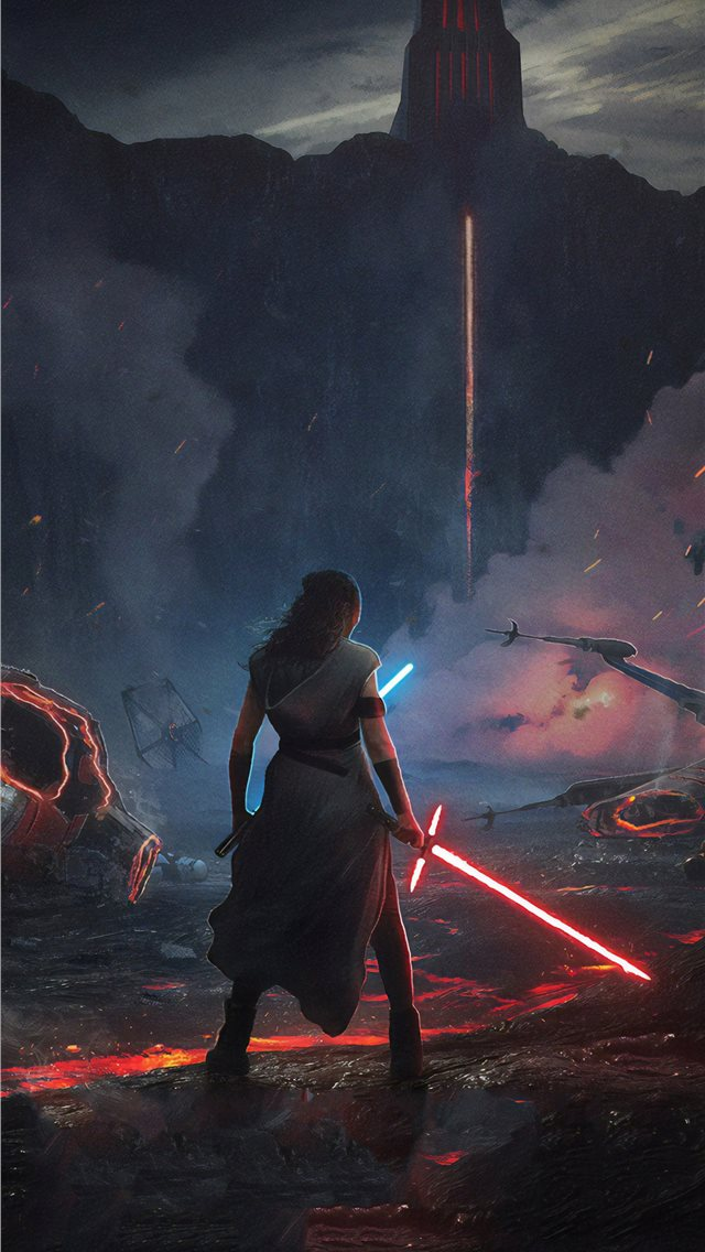 rey star wars the rise of skywalker 2019 new iphone wallpaper ilikewallpaper com