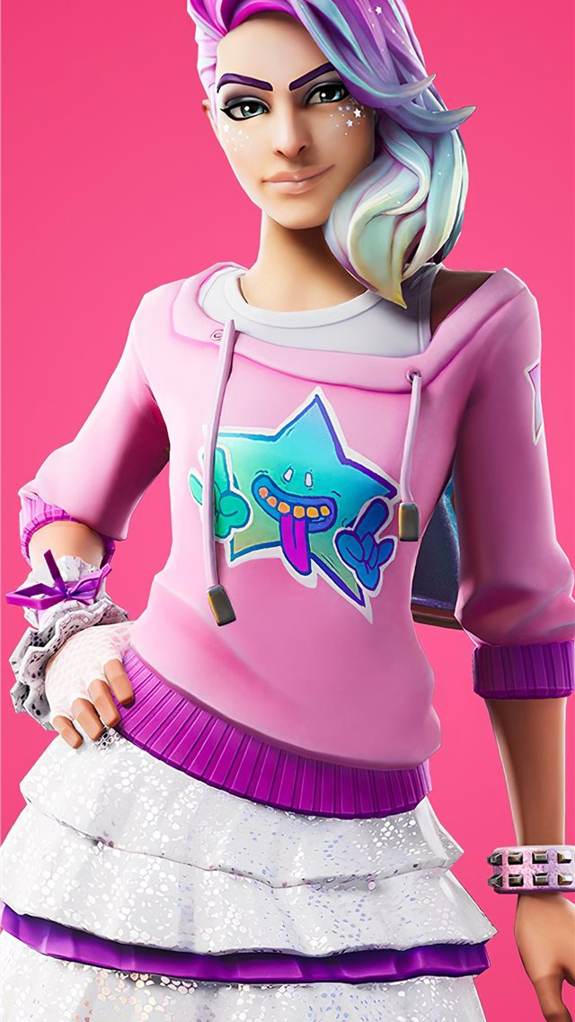 fortnite chapter two starlie outfit iPhone wallpaper