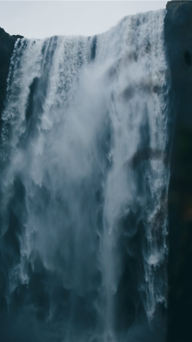 low angle photography of waterfall iPhone wallpaper