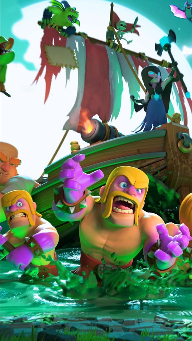 clash of clans halloween 4k iPhone wallpaper