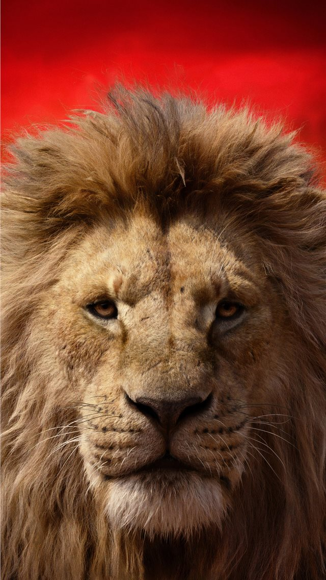 james earl jones as mufasa the lion king 2019 4k iPhone wallpaper