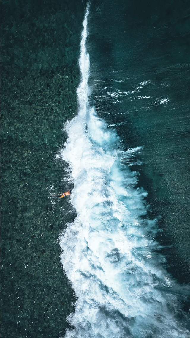 waterfall top view photography iPhone wallpaper