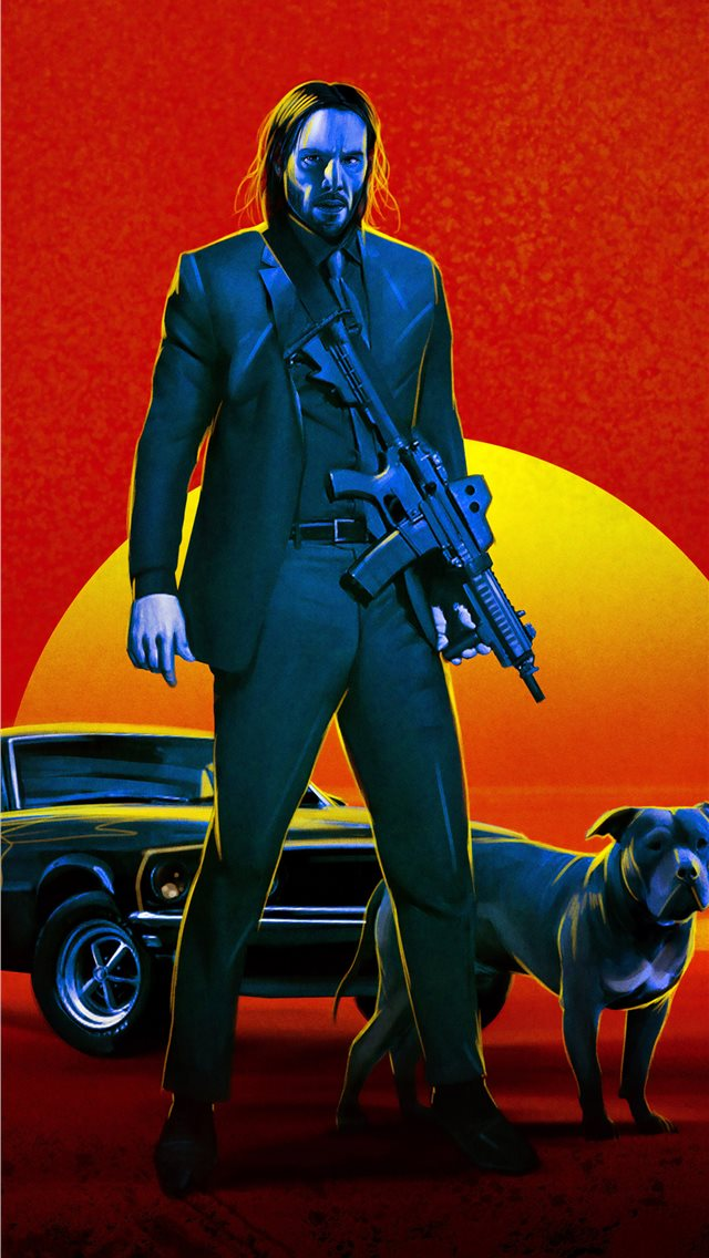 john wick 3 fan poster iPhone wallpaper