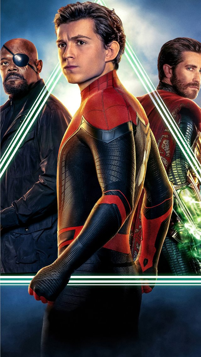 spiderman far from home movie 5k 2019 iPhone wallpaper