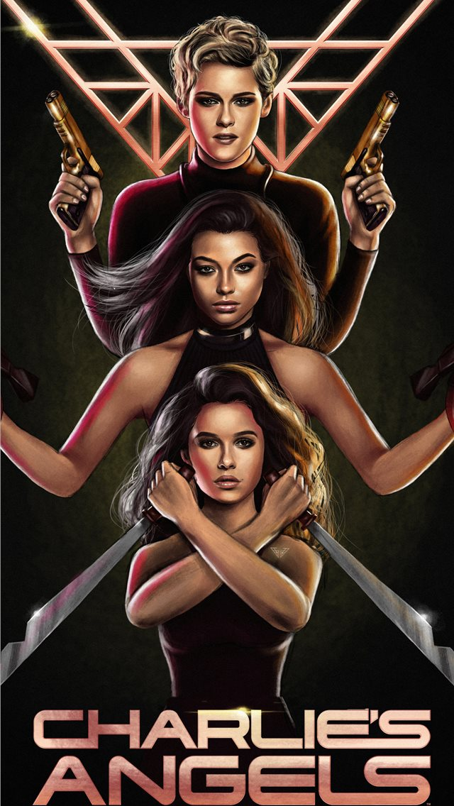 charlies angels 2019 artwork iPhone wallpaper