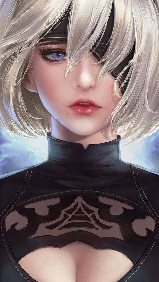 2b nier fanart 4k art iPhone wallpaper