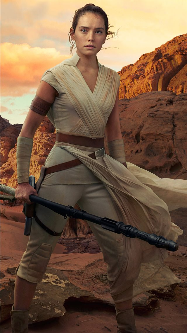 rey star wars the rise of skywalker 2019 4k iPhone wallpaper