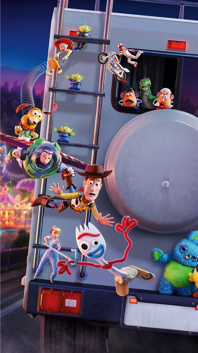 toy story 4 5k iPhone wallpaper