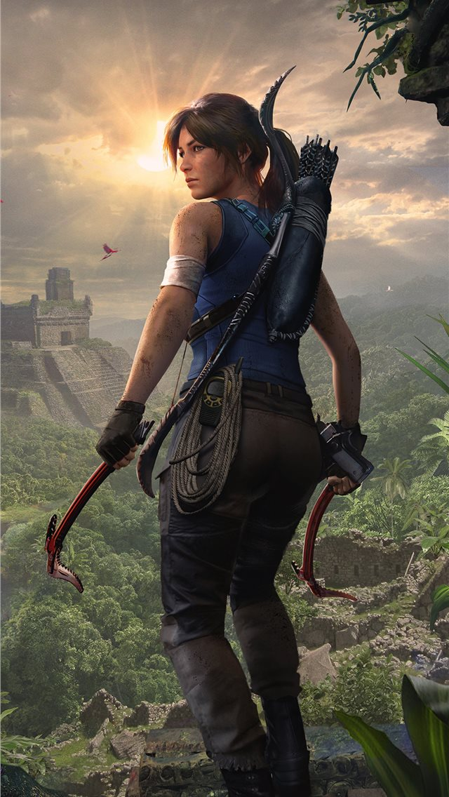 2019 shadow of the tomb raider lara croft 4k iPhone wallpaper