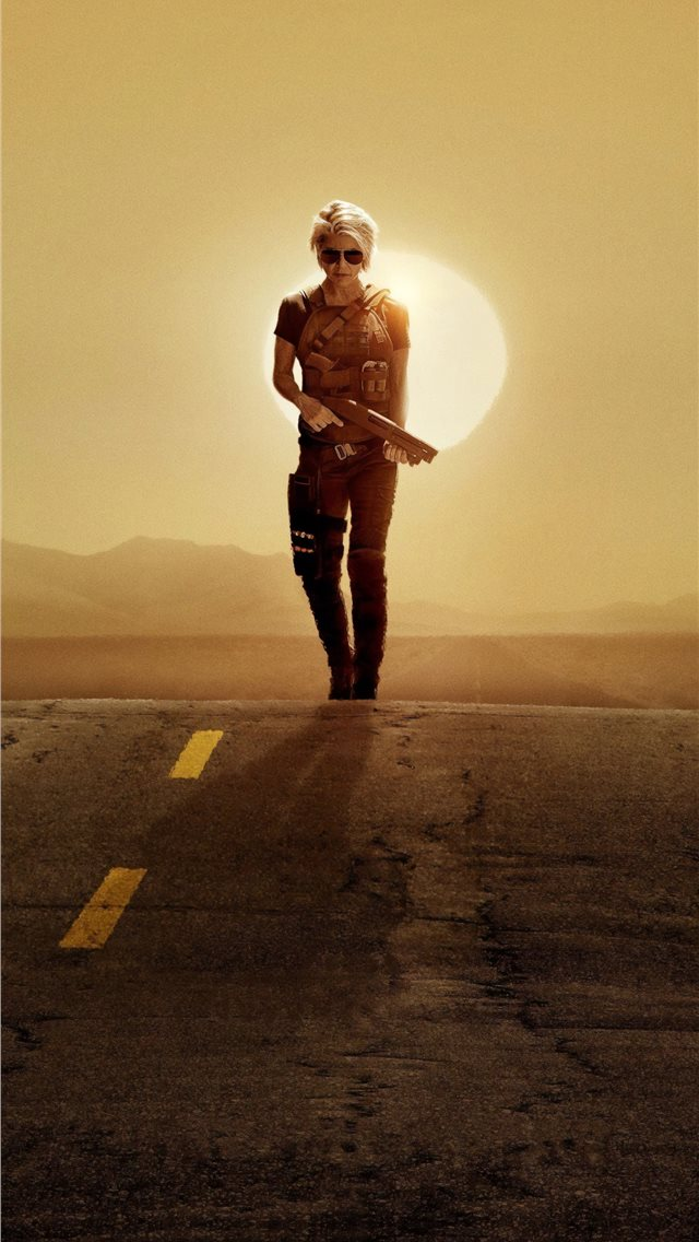 linda hamilton in terminator dark fate 2019 iPhone wallpaper