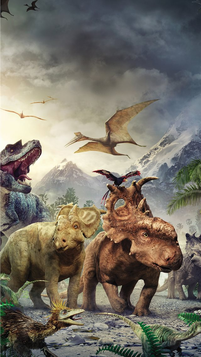 walking with the dinosaurs iPhone wallpaper