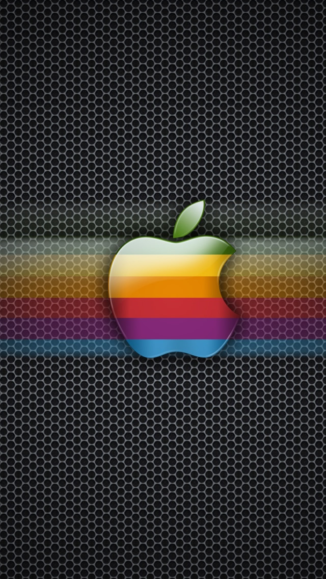 Exagon Rainbow Apple Iphone Wallpapers Free Download