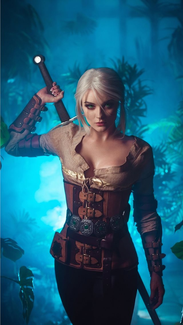 witcher 3 ciri art 2019 iPhone wallpaper