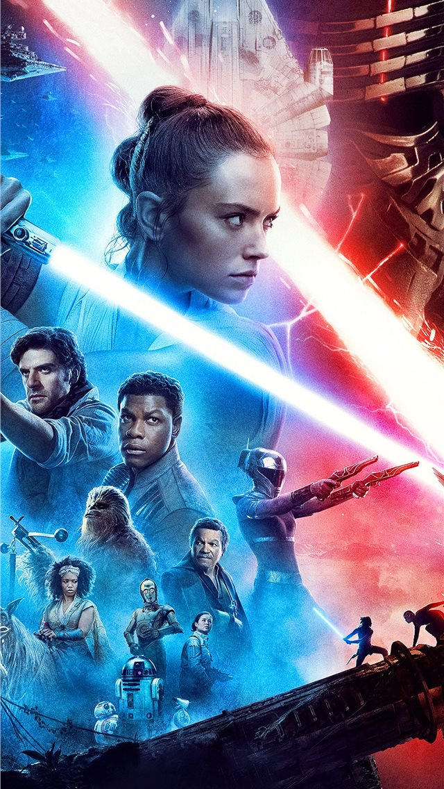 star wars the rise of skywalker new poster iPhone wallpaper