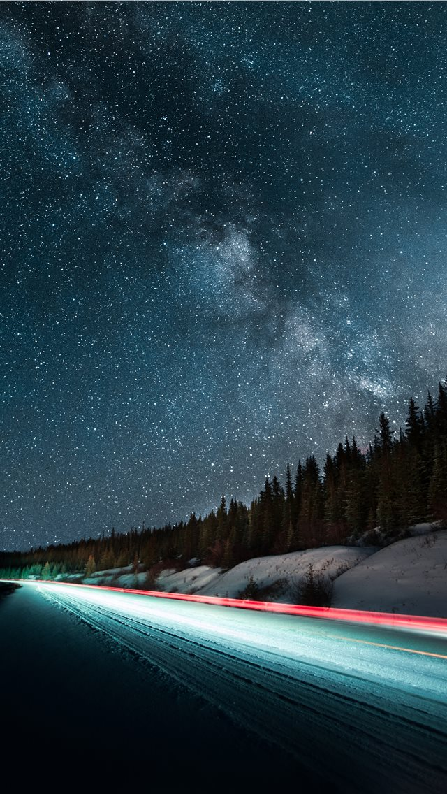 long exposure photography of vehicle light iPhone wallpaper