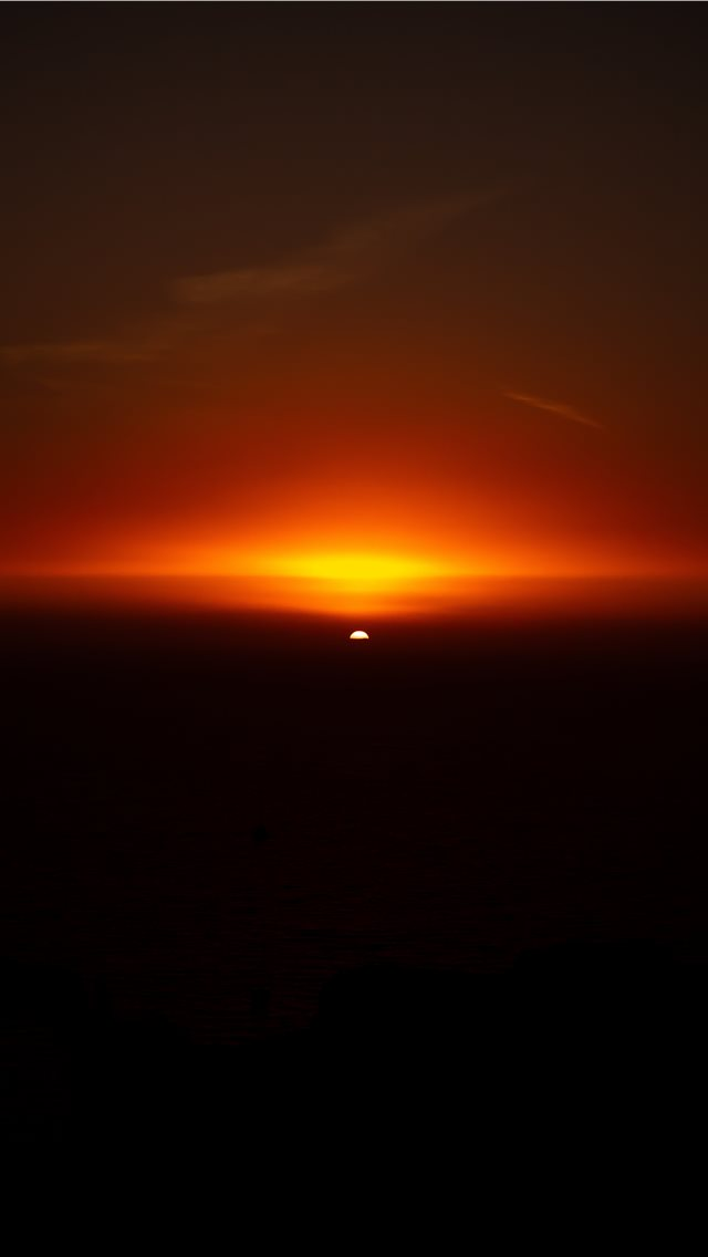 landscape photo of the sunset iPhone wallpaper