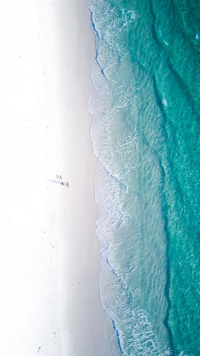 aerial photography of shore during daytime iPhone wallpaper
