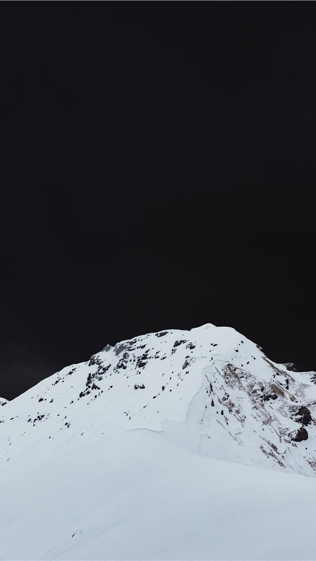 photography of snow capped mountain iPhone wallpaper