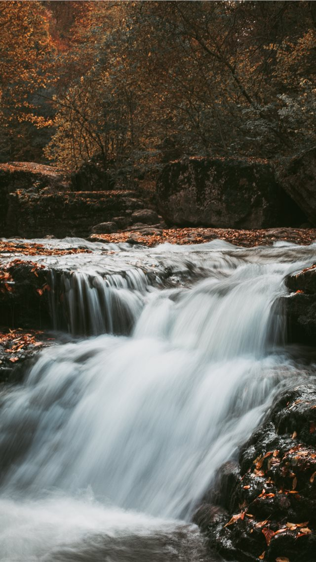 cascading waterfalls iPhone wallpaper
