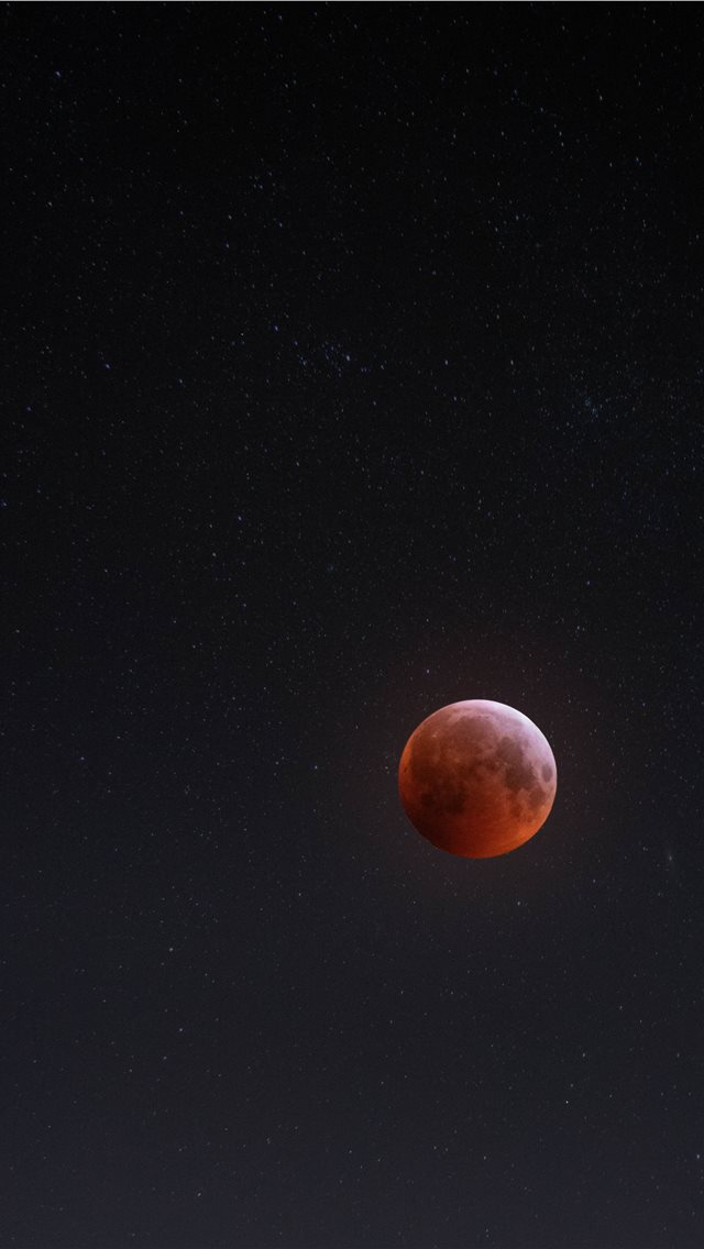 Earth's blood moon iPhone wallpaper