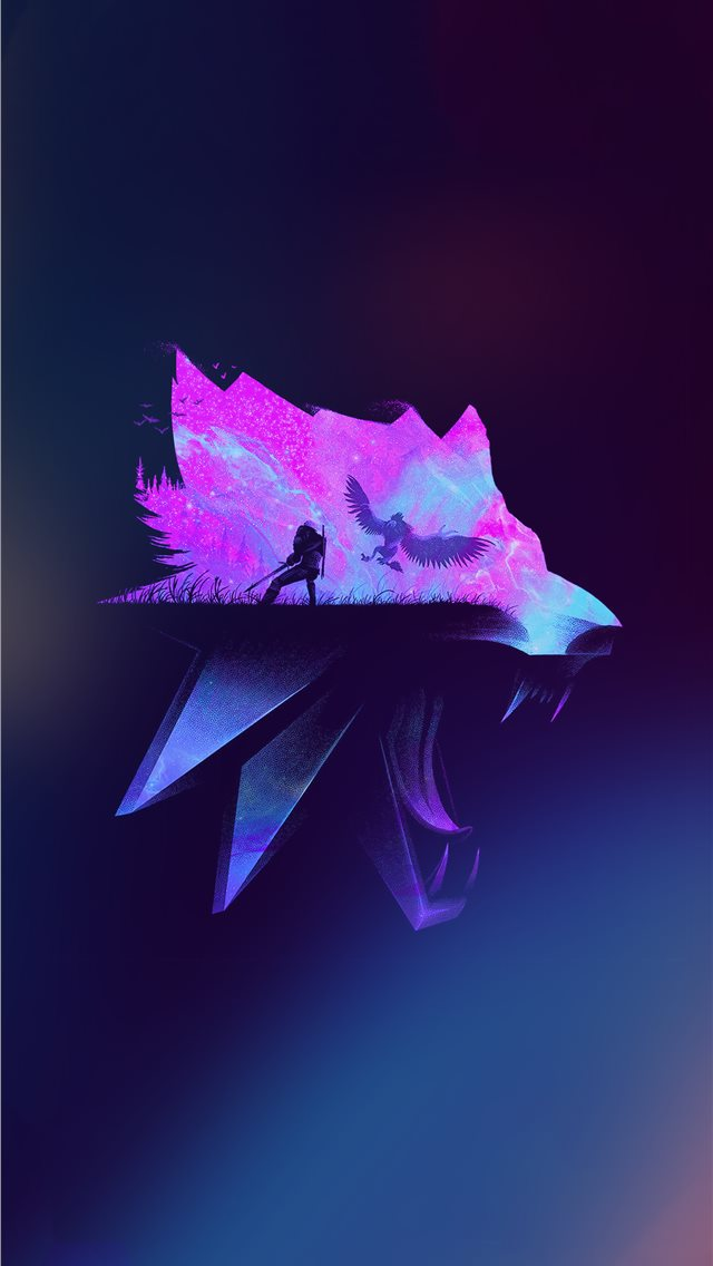 the witcher minimalist iPhone wallpaper