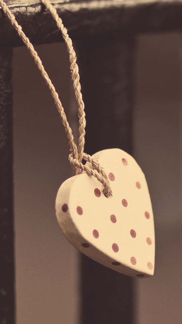 Heart shaped ornaments iPhone wallpaper