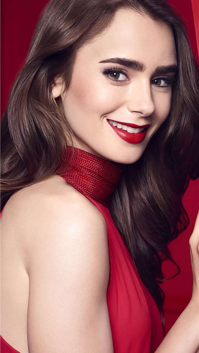 lily collins smiling 2020 iPhone wallpaper