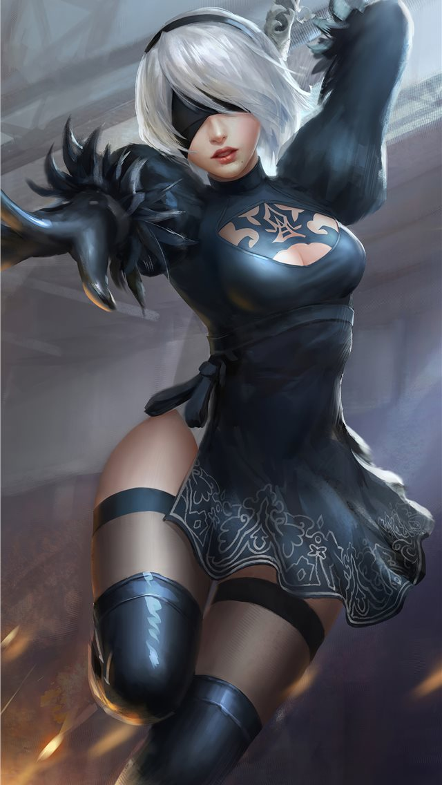 2b nier fanart4k iPhone wallpaper