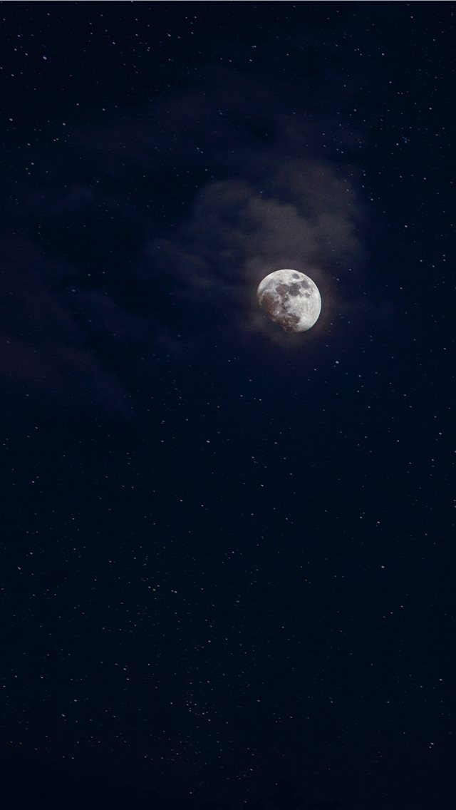 low angle photography of moon iPhone wallpaper