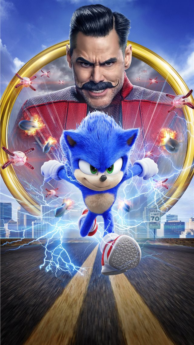 sonic the hedgehog movie 8k iPhone wallpaper