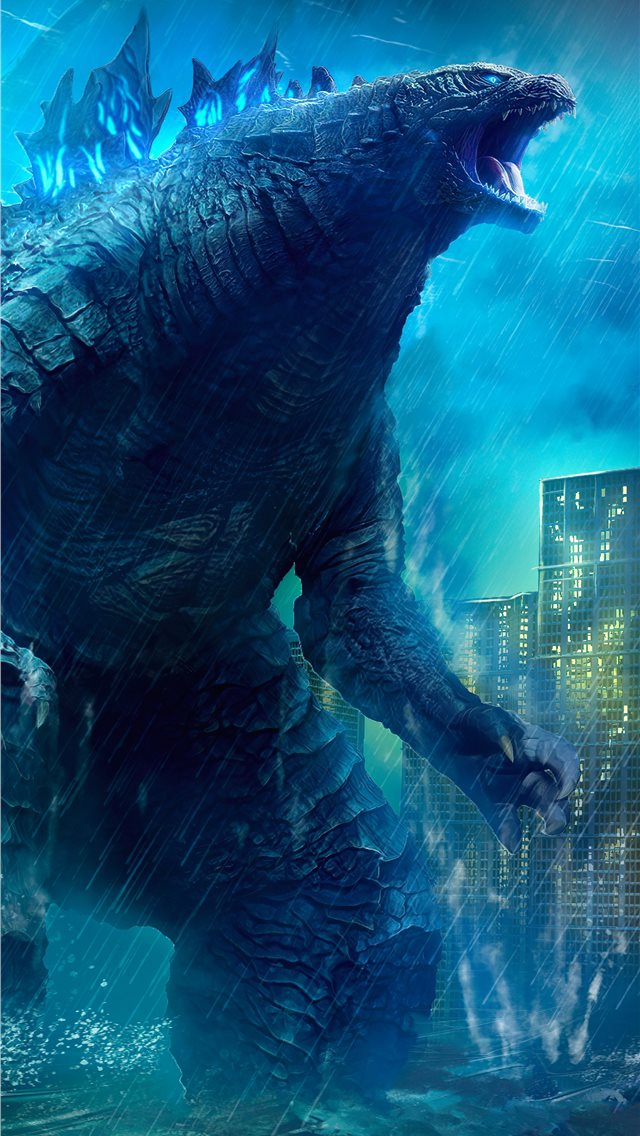 godzilla king of the monsters movie 4k art iPhone wallpaper