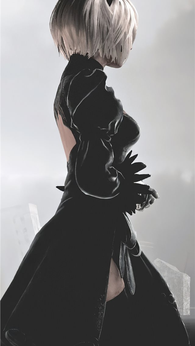 nier automata videogame 4k iPhone wallpaper
