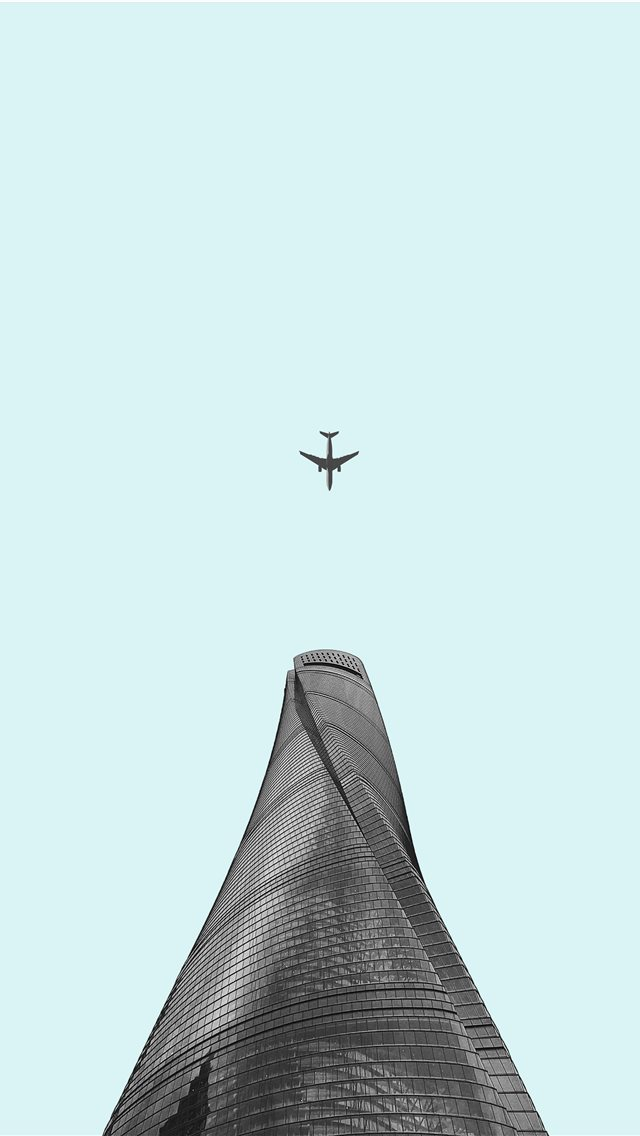 bottom view of airplane iPhone wallpaper