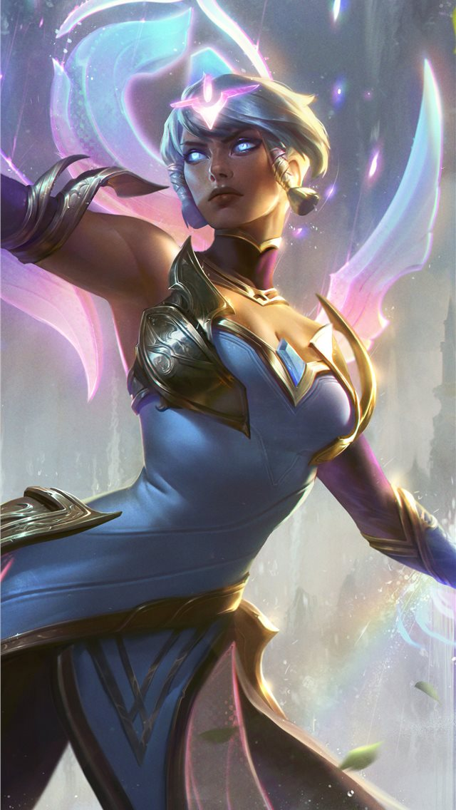 dawnbringer karma league of legends 8k iPhone wallpaper